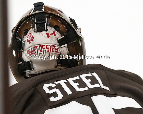 Tyler Steel (Brown - 35) - The Harvard University Crimson defeated the visiting Brown University Brown Bears 5-2 (EN) on Saturday, November 7, 2015, at Bright-Landry Center in Boston, Massachusetts.
