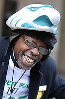 Philadelphia Eagles fan Lewis Hughes of Philadelphia wears a team hat at the Doubletree Hotel on South Broad Street Sunday, February 04, 2018 in Philadelphia, Pennsylvania.  WILLIAM THOMAS CAIN / For The Inquirer
