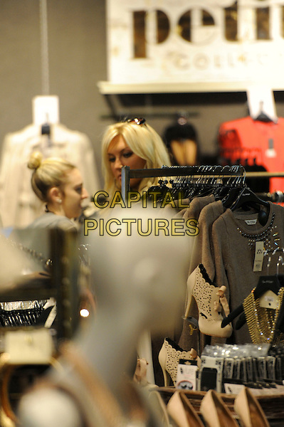 Brooke Hogan .out and about shopping in London, England, 24th January 2012..portrait headshot  Miss Selfridge .CAP/IA.©Ian Allis/Capital Pictures.