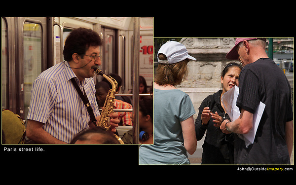 ring scam, sax player, Paris,