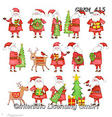 Kate, CHRISTMAS ANIMALS, WEIHNACHTEN TIERE, NAVIDAD ANIMALES, paintings+++++Santa and friends,GBKM415,#xa# ,sticker,stickers