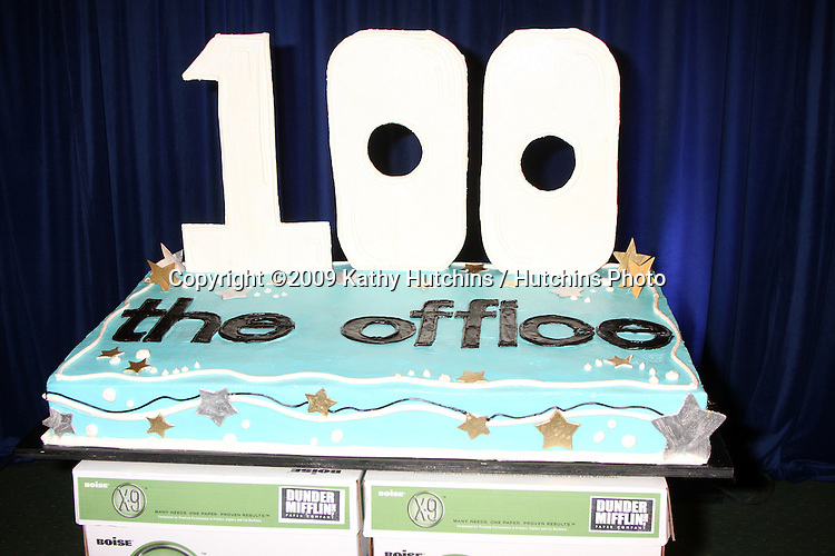 "The Office 100th Episode Cake 100th Episode of ""The Office""  On Location at Calamigos Ranch in Malibu , CA on April 14, 2009.©2009 Kathy Hutchins / Hutchins Photo....                ."
