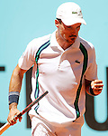 Roberto Bautista Agut, Spain, during Madrid Open Tennis 2016 match.May, 3, 2016.(ALTERPHOTOS/Acero)