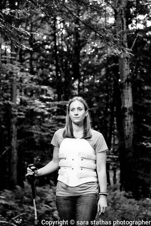 """Amber Kohnhorst, photographed for her story of """"Survival, Out Alive"""" in Backpacker Magazine"""