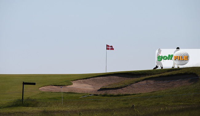 Players exiting the 8th green during Round Two of the 2015 Nordea Masters at the PGA Sweden National, Bara, Malmo, Sweden. 05/06/2015. Picture David Lloyd | www.golffile.ie