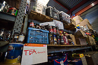 Main Warehouse &quot;L'Auberge&quot; where donations - including food - are managed and then distributed to the camps. <br />