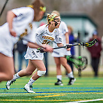 25 April 2015: University of Vermont Catamount Attacker Jessica Roach, a Senior from Scituate, MA, in action against the University of New Hampshire Wildcats at Virtue Field in Burlington, Vermont. Roach scored 3 goals as the Lady Catamounts defeated the Lady Wildcats 12-10 in the final game of the season, advancing to the America East playoffs. Mandatory Credit: Ed Wolfstein Photo *** RAW (NEF) Image File Available ***