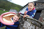 L-R: Pupils from St James Church of England Primary school in Hereford,  Ellis Willows & Florence Coore...Danywenallt Outdoor Centre .Talybont-On-Usk.30.04.12.©Steve Pope