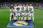 Real Madrid´s initial team players during Champions League soccer match between Real Madrid and Shakhtar Donetsk at Santiago Bernabeu stadium in Madrid, Spain. Spetember 15, 2015. (ALTERPHOTOS/Victor Blanco)