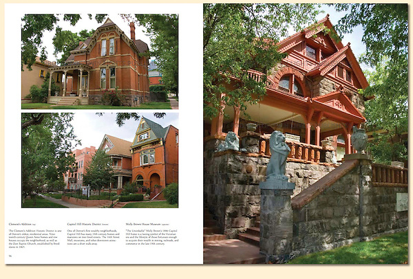 "Historic Denver homes like the Molly Brown House Museum (right). From John's 5th book: ""Denver Colorado: A Photographic Portrait.""<br />
