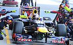 22.02.2012 Barcelona Spain. Formula One testind day2. Red Bull Racing with German driver Sebastian Vettel