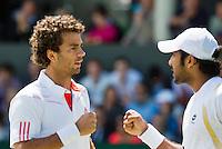 29-06-12, England, London, Tennis , Wimbledon,  Rojer-Qureshi(R)