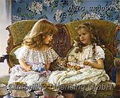 CHILDREN, KINDER, NIÑOS, paintings+++++,USLGSK0097,#K#, EVERYDAY ,Sandra Kock, victorian