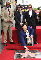 HOLLYWOOD, LOS ANGELES, CA, USA - APRIL 02: Forest Whitaker, David Leveaux, Orlando Bloom, Jerry Bruckheimer at Orlando Bloom's star ceremony on the Hollywood Walk of Fame (2,521st star) in the category of Motion Pictures held at 6927 Hollywood Boulevard (next to TCL Chinese Theatre and Madame Tussauds Hollywood) on April 2, 2014 in Hollywood, Los Angeles, California, United States. (Photo by Celebrity Monitor)