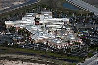 aerial photograph Facebook headquarters, Menlo Park, California