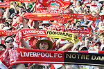Football: Test Match, Liverpool FC - Borussia Dortmund. Fans hold scarves aloft as teams are introduced in their exhibition match on July 19, 2019 at Notre Dame Stadium. <br /> Tim Vizer/DPA