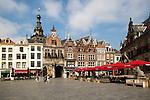 Historic buildings Saint Stephen's church tower, Grote Markt, Nijmegen, Gelderland, Netherlands