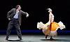 English National Ballet <br /> Triple Bill at Sadler's Wells, London, Great Britain <br /> 12th April 2016 <br /> world premier rehearsal <br /> <br /> <br /> Broken Wings<br /> choreography by Annabelle Lopez Ochoa<br /> <br /> Tamara Rojo as Frida Khalo<br /> <br /> Irek Mukhamedov<br /> as Diego Rivera<br /> <br /> <br /> <br /> <br /> Photograph by Elliott Franks <br /> Image licensed to Elliott Franks Photography Services