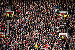 © Joel Goodman - 07973 332324 . 17/05/2015 .  Old Trafford , Manchester , UK . Manchester United fans watching the match . Manchester Utd vs Arsenal at Old Trafford Football Stadium , Manchester . Photo credit : Joel Goodman