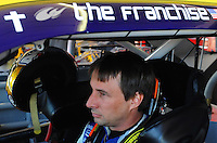 Apr 17, 2009; Avondale, AZ, USA; NASCAR Sprint Cup Series driver David Reutimann during practice for the Subway Fresh Fit 500 at Phoenix International Raceway. Mandatory Credit: Mark J. Rebilas-
