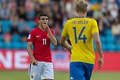 June 1th 2017, Ullevaal Stadion, Oslo, Norway; International Football Friendly 2018 football, Norway versus Sweden; Mohamed Elyounoussi of Norway