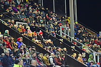 Lincoln City fans watch their team in action<br /> <br /> Photographer Andrew Vaughan/CameraSport<br /> <br /> The EFL Sky Bet League Two - Lincoln City v Cheltenham Town - Tuesday 13th February 2018 - Sincil Bank - Lincoln<br /> <br /> World Copyright &copy; 2018 CameraSport. All rights reserved. 43 Linden Ave. Countesthorpe. Leicester. England. LE8 5PG - Tel: +44 (0) 116 277 4147 - admin@camerasport.com - www.camerasport.com