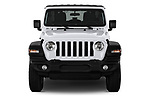 Car photography straight front view of a 2018 Jeep Wrangler Unlimited Sport 5 Door SUV