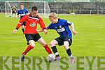 Tralee Dynamos Nigel O'Connor and Athlone Town's Alan Coffey.