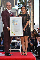 Mitch O'Farrell &amp; Eva Longoria at the Hollywood Walk of Fame Star Ceremony honoring actress Eva Longoria, Los Angeles, USA 16 April 2018<br /> Picture: Paul Smith/Featureflash/SilverHub 0208 004 5359 sales@silverhubmedia.com