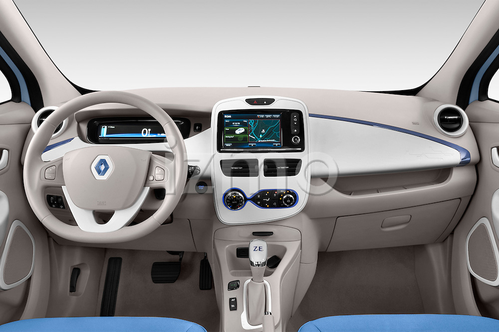 Straight dashboard view of a 2013 Renault Zoe Life ZE Hatchback2013 Renault Zoe Life ZE Hatchback