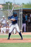 Milwaukee Brewers center fielder Joe Gray (9) at bat during an Instructional League game against the San Diego Padres at Peoria Sports Complex on September 21, 2018 in Peoria, Arizona. (Zachary Lucy/Four Seam Images)