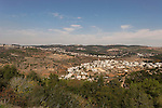 Israel, Jerusalem Mountains. Arab village Ein Rafa as seen from Tzuba
