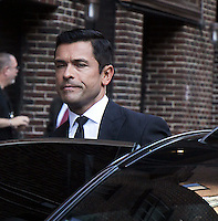 NEW YORK, NY- SEPTEMBER 22: Mark Consuelos at The Late Show with Stephen Colbert  in New York City on September 22, 2016. Credit: RW/MediaPunch