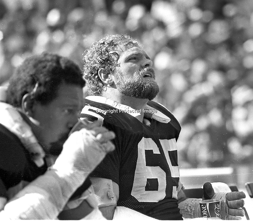 Oakland Raiders Mickey Marvin and Gene Upshaw..<br />