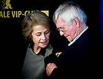 Charlotte Rampling and Tom Corutenay promotes his 45 Years film during the LXV Berlin film festival, Berlinale at Potsdamer Straße in Berlin on February 6, 2015. Samuel de Roman / Photocall3000 / Dyd fotografos-DYDPPA.