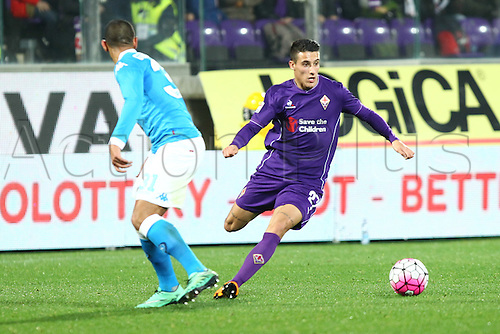 29.02.2016. Stadium Artemio Franchi, Florence, Italy.  Serie A football league. Fiorentina versus Napoli. Tello in action