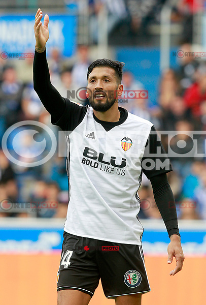 Valencia CF's Ezequiel Garay during La Liga match. October 28,2017. (ALTERPHOTOS/Acero) /NortePhoto.com