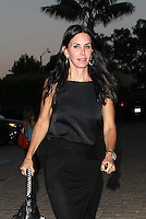 Courteney Cox looked great in an all black outfit with wrap skirt while out and about in Malibu. Los Angeles, Califorinia on 6.7.2012..Credit: Correa/face to face.. /MediaPunch Inc. ***FOR USA ONLY*** ***Online Only for USA Weekly Print Magazines*** /*NORTEPHOTO* <br /> **CREDITO*OBLIGATORIO** **No*Venta*A*Terceros** **No*Sale*So*third**<br />  ***No*Se*Permite*Hacer*Archivo** **No*Sale*So*third**
