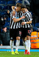 Newcastle United's Matt Ritchie celebrates with Ayoze Perez<br /> <br /> Photographer Alex Dodd/CameraSport<br /> <br /> Emirates FA Cup Third Round Replay - Blackburn Rovers v Newcastle United - Tuesday 15th January 2019 - Ewood Park - Blackburn<br />  <br /> World Copyright © 2019 CameraSport. All rights reserved. 43 Linden Ave. Countesthorpe. Leicester. England. LE8 5PG - Tel: +44 (0) 116 277 4147 - admin@camerasport.com - www.camerasport.com