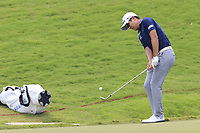 K.T. Kim (KOR) chips onto the 18th green during Saturday's Round 3 of the 2017 PGA Championship held at Quail Hollow Golf Club, Charlotte, North Carolina, USA. 12th August 2017.<br /> Picture: Eoin Clarke | Golffile<br /> <br /> <br /> All photos usage must carry mandatory copyright credit (&copy; Golffile | Eoin Clarke)