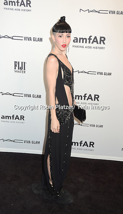Michelle Harper attends the amfAR New York Gala to kick off Fashion Week on February 6, 2013 at Cipriani Wall Streetin New York City. The honorees were Heidi Klum, Janet Jackson  and Kenneth Cole.