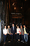 Xuejiao Bai, Zhenzhu Ma, Stewart F. Lane, Yanping Ma, Zhiyong Liu and Wen Chen during the Central Academy of Drama: Professors tour The Palace Theatre on September 25, 2017 at the The Palace Theatre in New York City.