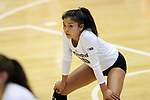 DURHAM, NC - SEPTEMBER 01: Northwestern's Amy Wang. The Northwestern University Wildcats played the University of South Carolina Gamecocks on September 1, 2017 at Cameron Indoor Stadium in Durham, NC in a Division I women's college volleyball match. Northwestern won 3-1 (13-25, 25-18, 25-18, 25-19).