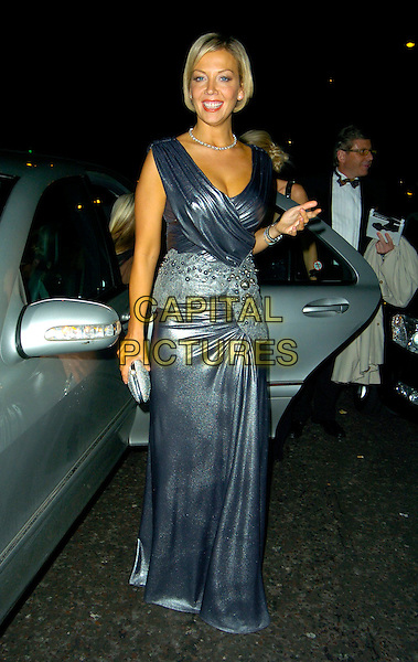 "LIZ FULLER.""Swarovski Fashion Rocks"" afterparty, Baglioni, London, England..October 18th, 2007.full length grey gray silver metallic dress wrap.CAP/CAN.©Can Nguyen/Capital Pictures"