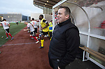 Clyde versus Edinburgh City, SPFL League 2 game at Broadwood Stadium, Cumbernauld. The match ended 0-0, watched by a crowd of 461. Photo shows City manager Gary Jardine before kick-off.