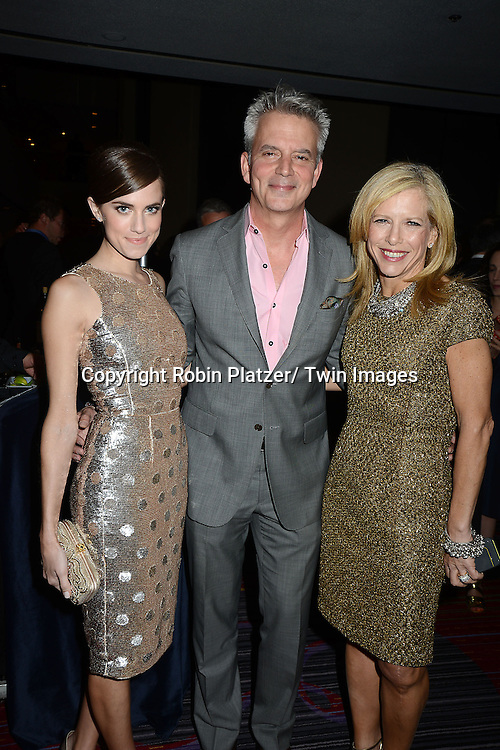 Allison Williams, Larry Hackett and Lucy Danziger attend the National Magazine Awards on May 2, 2013 at the Marriott Marquis Hotel in New York City.
