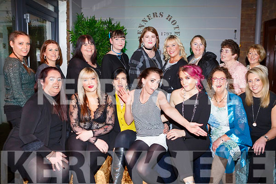 Janene Bailey of Tralee having her hen party with family and friends in Benners Hotel on Saturday night last.