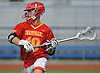 Sean Kuttin #19 of Chaminade looks to make a pass during the Nassau-Suffolk CHSAA varsity boys lacrosse Class AA final against St. Anthony's at Mitchel Athletic Complex on Tuesday, May 15, 2018. The game went to halftme tied 8-8 when a prolonged lightning storm forced a postponement.