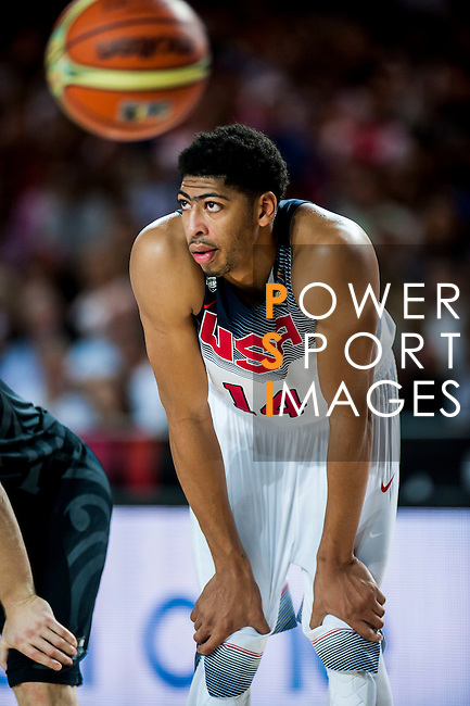 Anthony Davis of United States of America during FIBA Basketball World Cup 2014 group C between United States of America vs New Zeland  on September 02, 2014 at the Bilbao Arena stadium in Bilbao, Spain. Photo by Nacho Cubero / Power Sport Images