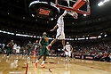 December 4, 2013: Shavon Shields (31) of the Nebraska Cornhuskers dunks the ball against James Kelly (35) of the Miami (Fl) Hurricanes at the Pinnacle Bank Areana, Lincoln, NE. Nebraska defeated Miami 60 to 49.